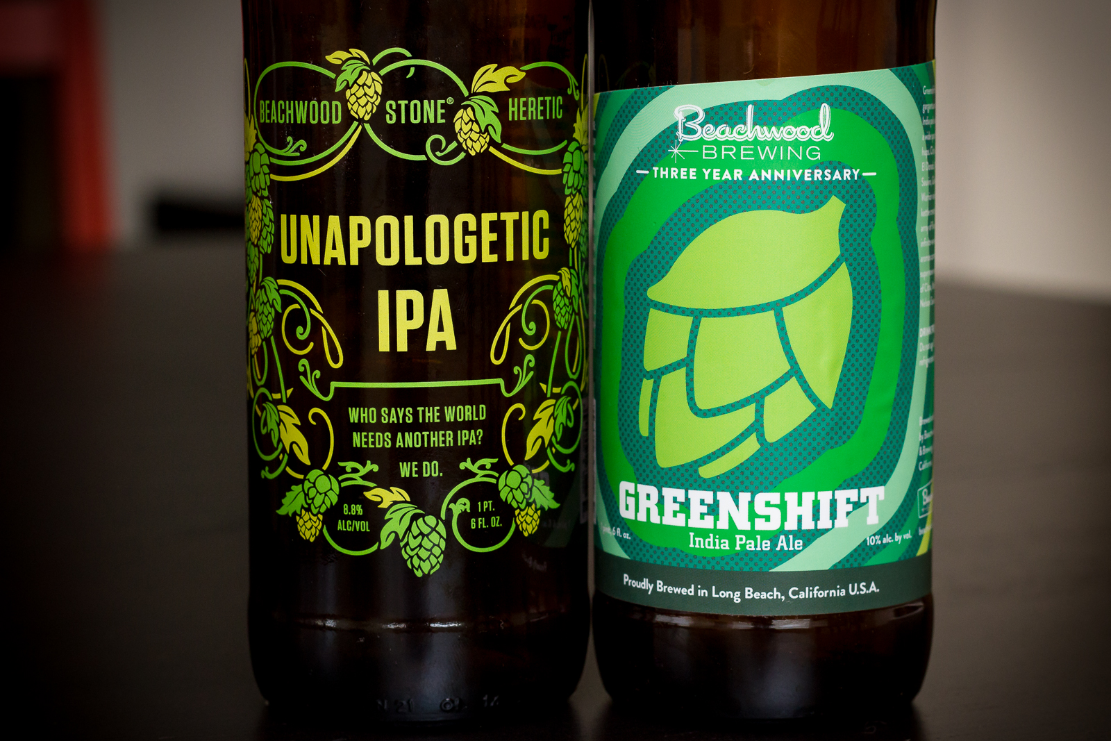 Stone Brewing Co./Beachwood Brewing/Heretic Brewing - Unapologetic IPA and Beachwood Brewing's Greenshift IPA