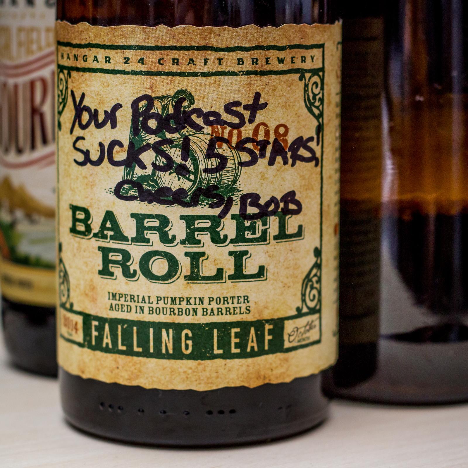 Hangar 24 Craft Brewery - Falling Leaf. Label customized by Bob Vreeland.