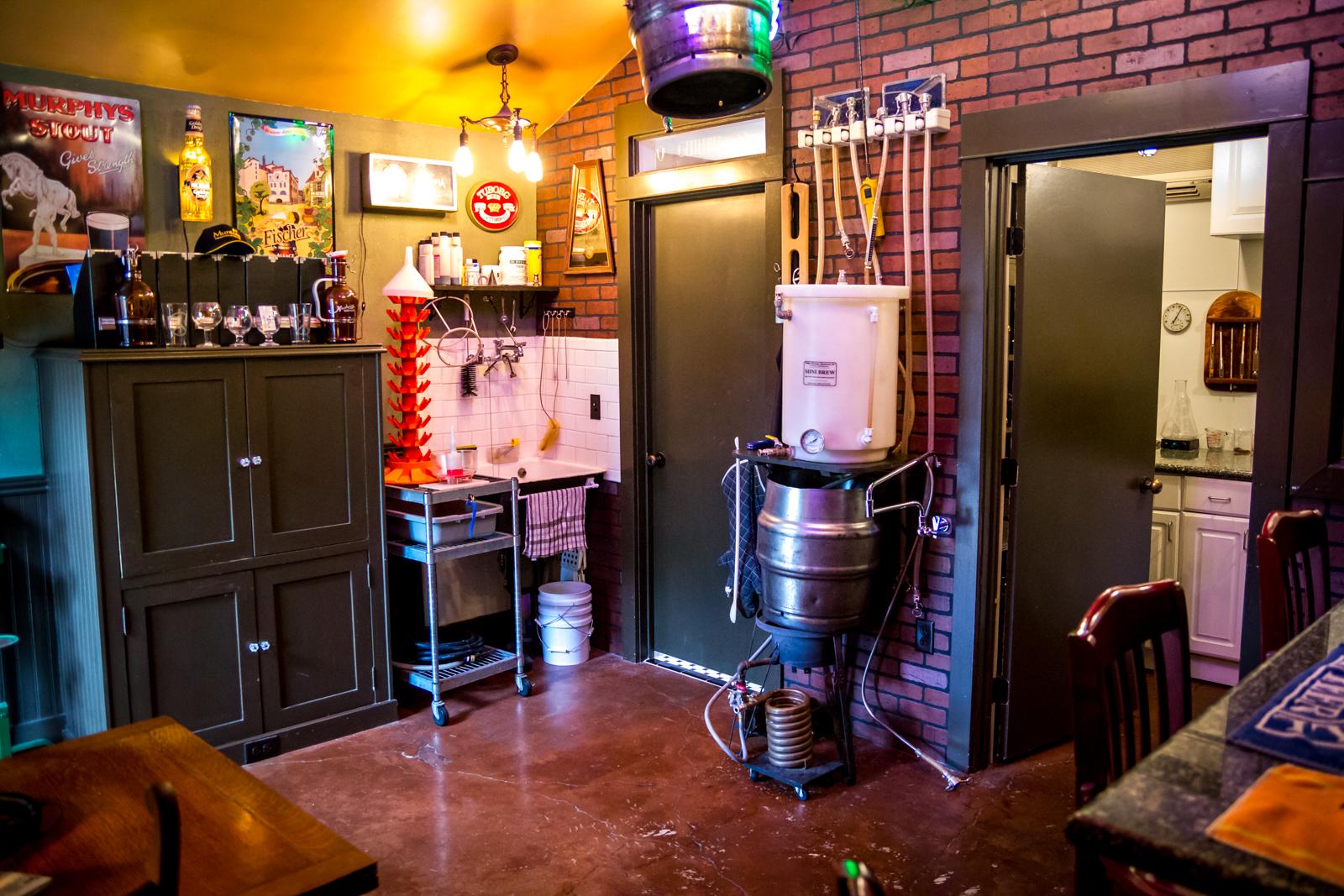 Brad's Brewing Area