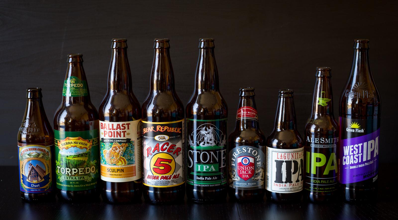2016 IPA Showdown Beers