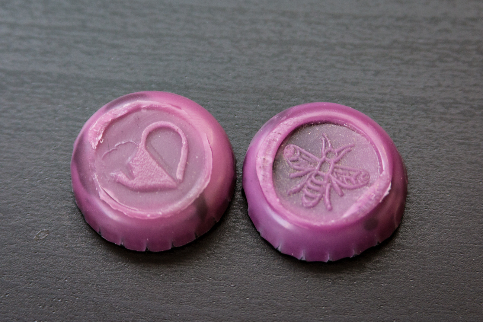 Plan Bee and Newburgh Wax-Stamped Bottle Caps