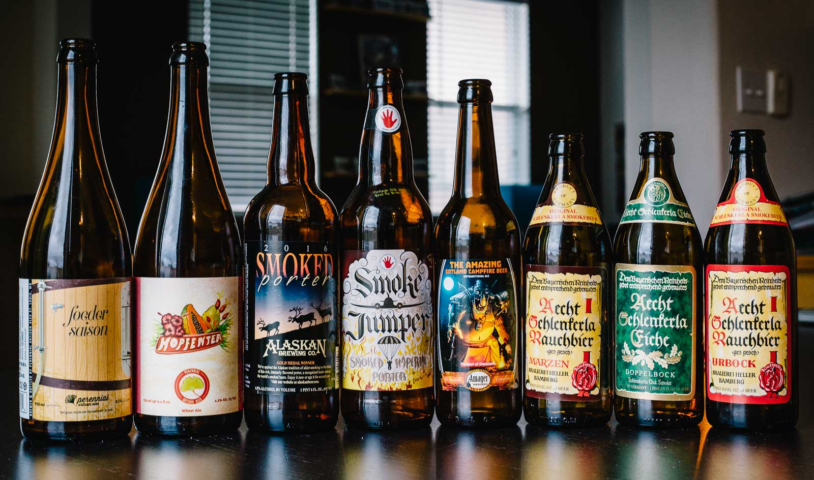 Smoked and Non-Smoked Beers