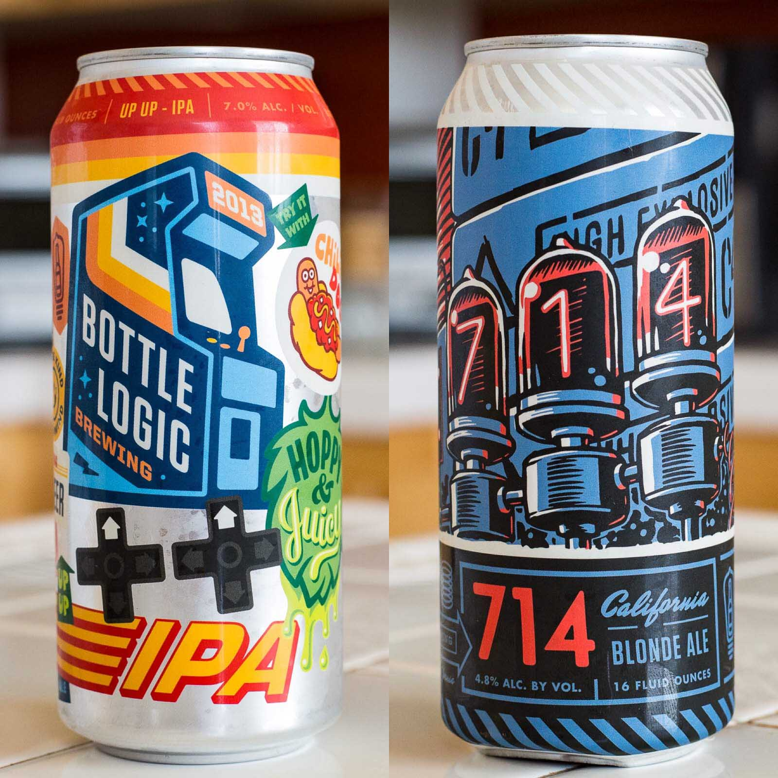 Bottle Logic Brewing 714 and Up Up