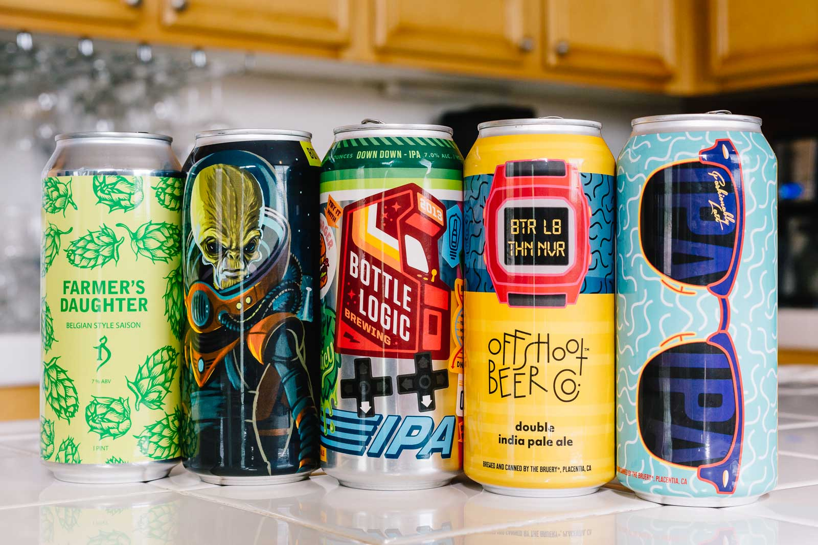 Beers from Offshoot Beer Co, The Alchemist, and Bottle Logic Brewing
